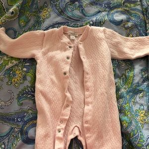 Kissy kissy baby girl footie outfit